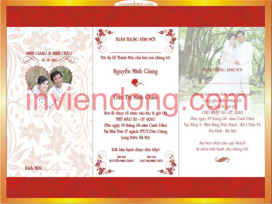 In Thiệp Cưới Lấy Ngay | Print Invitations in hanoi  | In Vien dong