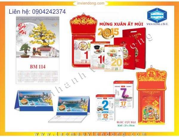 Thiết kế và in lịch tết 2015 lấy ngay | In túi nilon shop giá rẻ, lấy nhanh tại Hà Nội | In Nhanh | In Lay Ngay