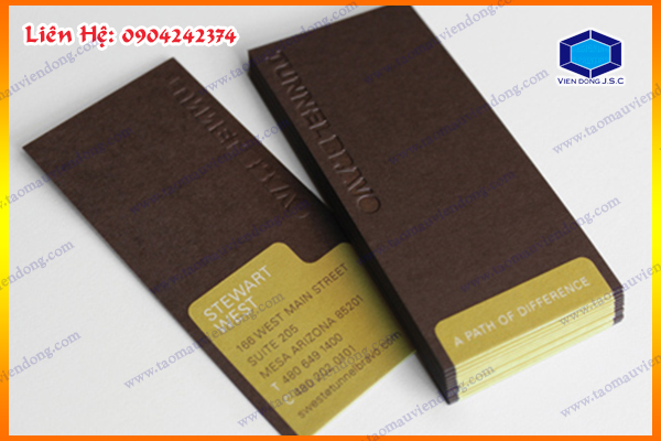 In Card visit - Danh thiếp- Name card | Xưởng in tờ gấp lấy ngay  | In Vien dong