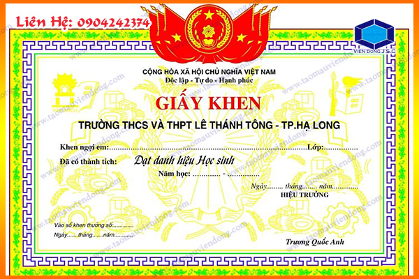 In giấy khen lấy nhanh | In Nhanh ; In Lay Ngay ; In Vo hop ; In Name Card ; In tui nilon ; in thiep