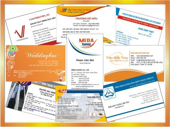 Địa chỉ in card visit – danh thiếp tại Hà Nội -ĐT: 0904242374