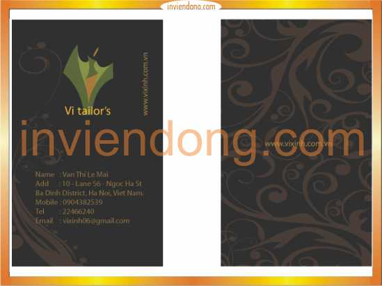 Công ty in card visit hàng đầu tại Hà Nội