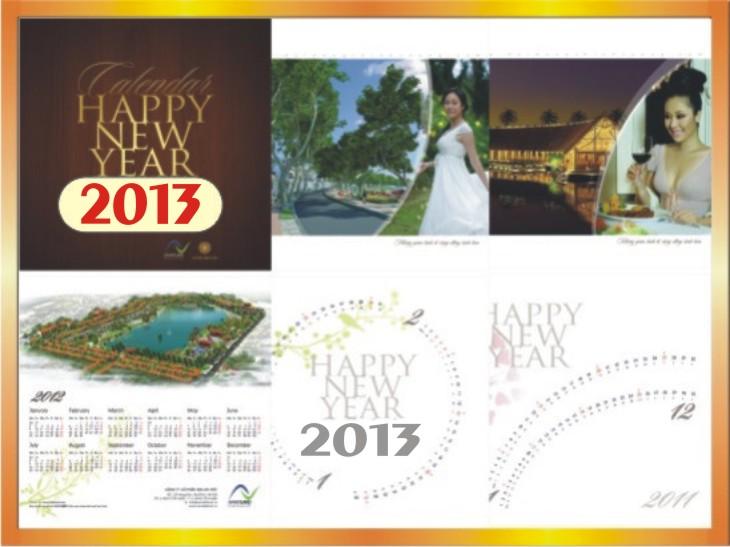 Công ty in lịch độc quyền 2013 tại Hà Nội -ĐT: 0904242374