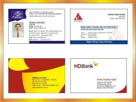 Địa chỉ in name card visit thiết kế miễn phí tại Hà Nội -ĐT: 0904242374