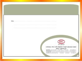 Xưởng in phong bì thư thiết kế miễn phí tại Hà Nội -ĐT: 0904242374