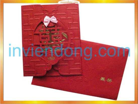 In thiệp cưới sang trọng tại Hà Nội