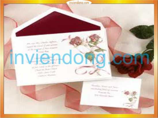 In thiệp cưới đẹp xinh tại Hà Nội