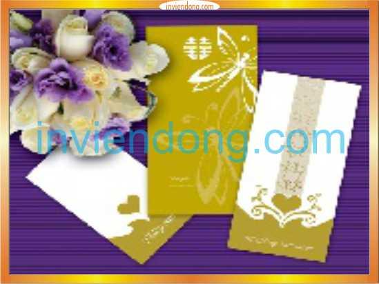 Chuyên thiết kế và inThiệp Cưới Lấy Ngay Giá rẻ tại Hà Nội