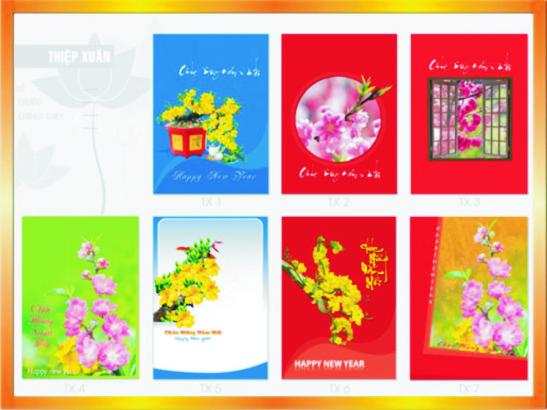 Xưởng in thiếp xuân tại Hà Nội -ĐT: 0904242374
